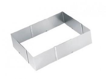 anello cuoci torta regolabile rettangolare inox eva