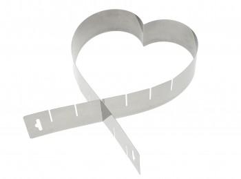 anello stampo forma per torta a cuore acciaio inox