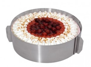 anello torte acciaio inox 16 30 cm.