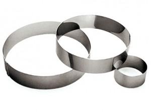 anello torte timballo mousse acciaio inox gobel