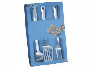 set attrezzi barbecue inox fiskars
