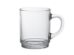 bicchiere tazza mug vetro temperato trasparente the