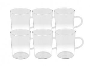 bicchiere vetro temperato con manico the e bevande calde