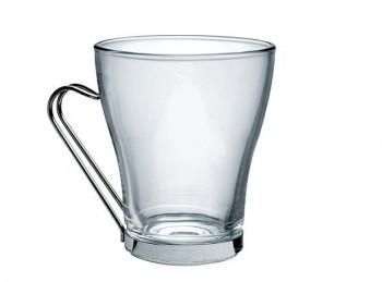 bicchiere vetro temperato con manico bevande calde the