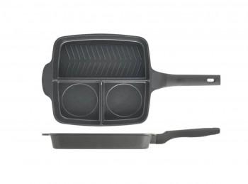 bistecchiera grill a scomparti antiaderente