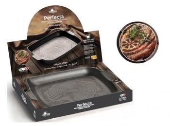 bistecchiera antiaderente rettangolare decora carne perfecta