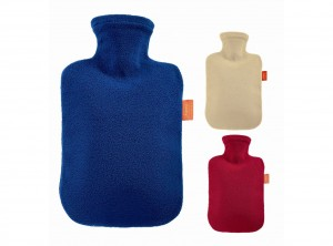 borsa acqua calda foderata in tessuto pile fashy