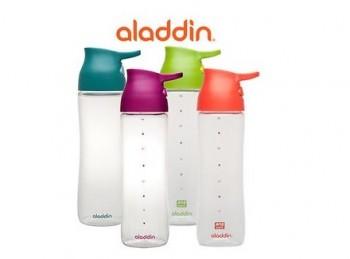 bottiglia borraccia sport plastica aladdin one handed