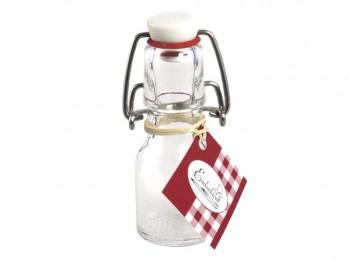 mini bottiglietta vetro con tappo chiusura ermetica