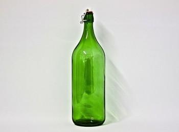 bottiglione vetro doppio litro con tappo meccanico ermetico