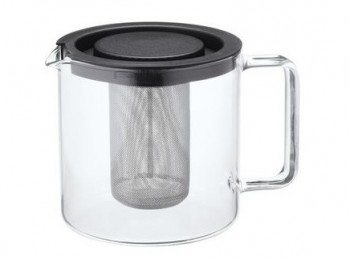 bollitore teiera vetro temperato con filtro per infusi rete inox simax