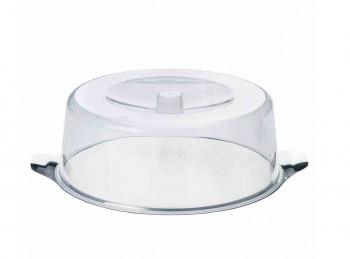 campana copritorta con piatto in acciaio inox