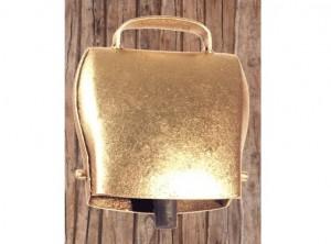 campanello bovini capre ferro color oro forma conica originale austria