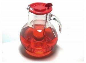 caraffa brocca vetro aperitivi con rinfrescatore ghiaccio