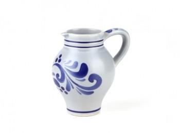 caraffa brocca vino tipica tirolo gres ceramica blu grigia
