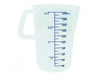 caraffa misura graduata plastica due litro