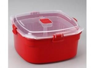 scatola box con cestello cottura vapore verdure sistema
