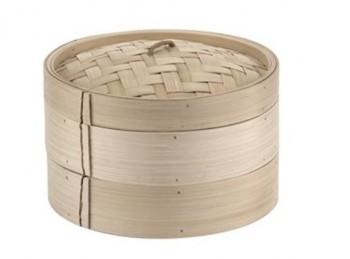 cestello cuoci vapore in bambù