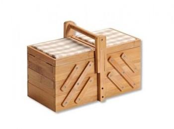 cestino porta cucito in legno bamboo