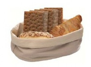 cestino pane cotone lavabile ovale