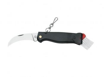 coltello per raccolta funghi lama curva e spazzolino naylon