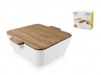 scatola contenitore porta pane con antipastiera