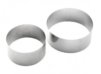 coppia anelli coppapasta tondo acciaio inox