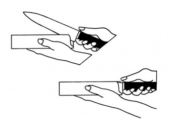 custodia plastica copri lama coltello