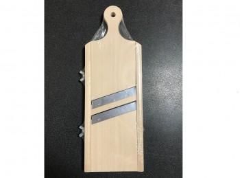 grattugia mandolina fetta doppia lama regolabile in legno