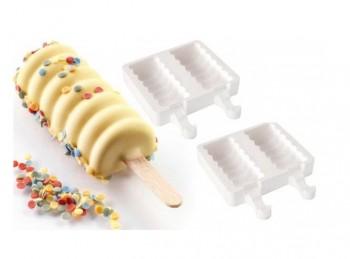 stampo kit mini gelati con stecco silicone silikomart