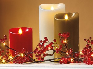candela effetto fiamma in cera Luminara