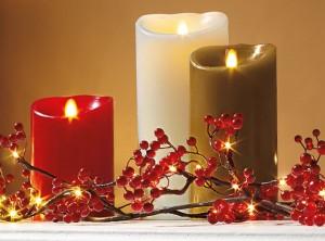 candela cera effetto fiamma Luminara