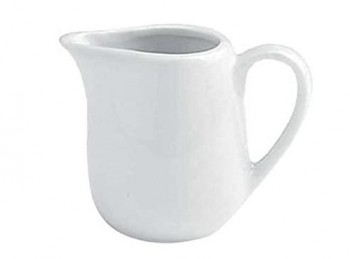 lattiera cremierina per latte in porcellana bianca