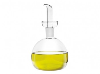 ampolla olio in vetro con beccuccio versatore