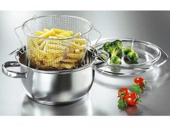 casseruola frittura con cestello rete inox gsw