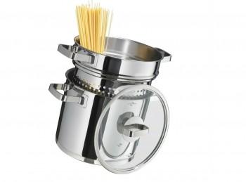 pentola spaghettiera con cestello per piano cottura induzione