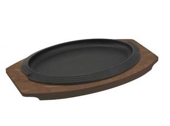 piastra bistecchiera ghisa ovale ilsa