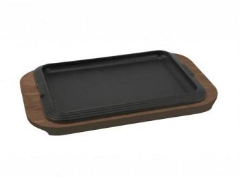 piatra in ghisa rettangolare servi in tavola