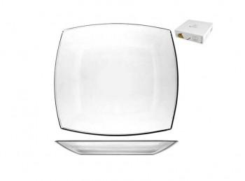 piatto dessert vetro trasparente quadro