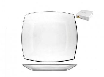 piatto piano vetro trasparente quadrato tokio