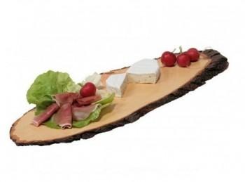 piatto tagliere vassoio rustico legno corteccia kesper