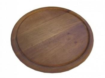 tagliere legno tondo con scanalatura 22