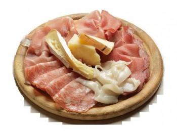 tagliere legno piatto servi salumi e formaggio