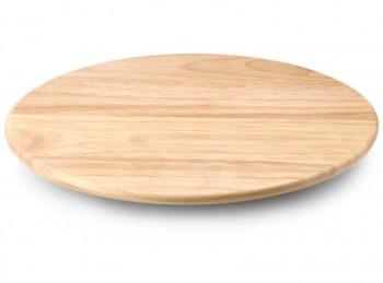 vassoio portata legno con base girevole