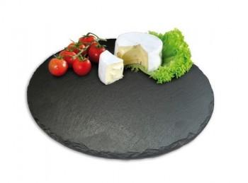 piatto tagliere vassoio in ardesia tondo
