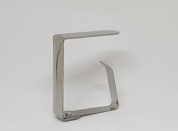 fermatovaglia a molla acciaio inox grande
