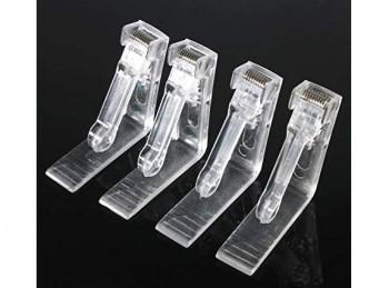 conf. 4 molla fermatovaglia plastica trasparente