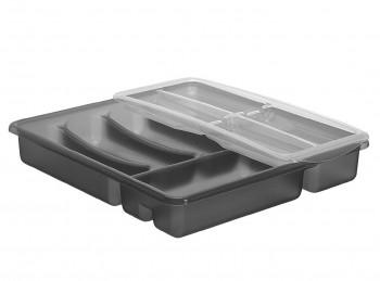 portaposate da cassetto a scomparti plastica rotho