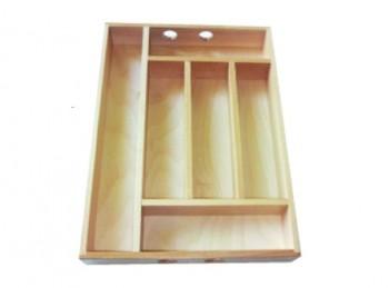 portaposate da cassetto in legno