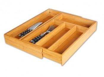 portaposate da cassetto in legno estensibile